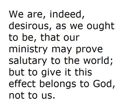 Calvin Quotation about Salutary Ministry