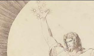 Christ holding teh seven stars