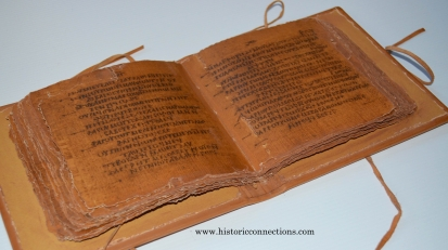 On the right is a codex or book like we use today.