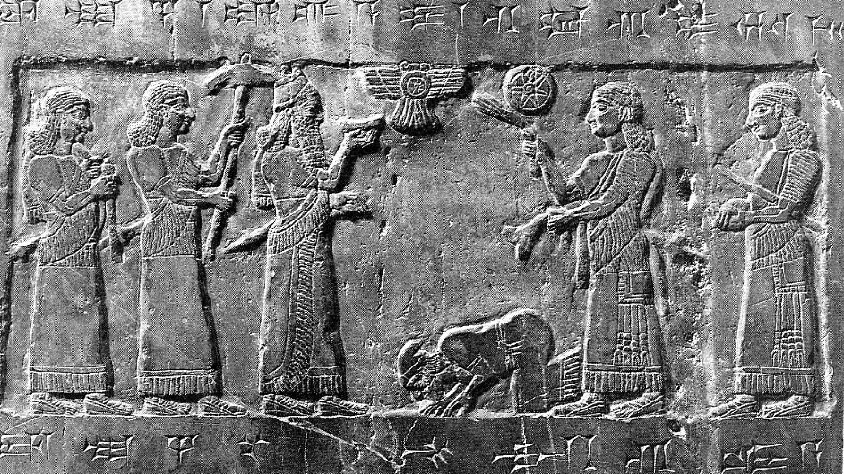 Jehu bowing to Assyrian King