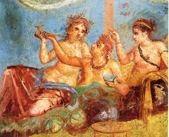 Pompeii_-_Casa_dei_Casti_Amanti_-_Banquet-640x520