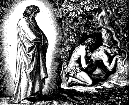 Adam and Eve Hiding from God_Schnorr_von_Carolsfeld_Bibel_in_Bildern_1860