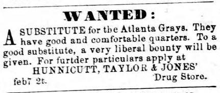 Atlanta Ad for a substitute