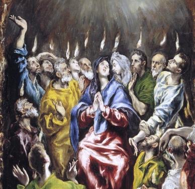 Feast of Pentecost El Greco 1600