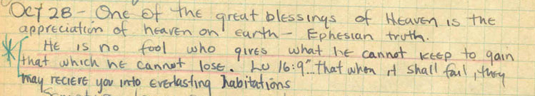 Jim Elliot Quotation from his Journal