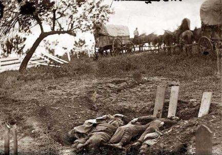 Shallow Grave of War Dead