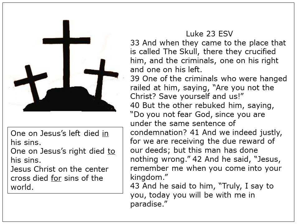 Three Crosses and scripture