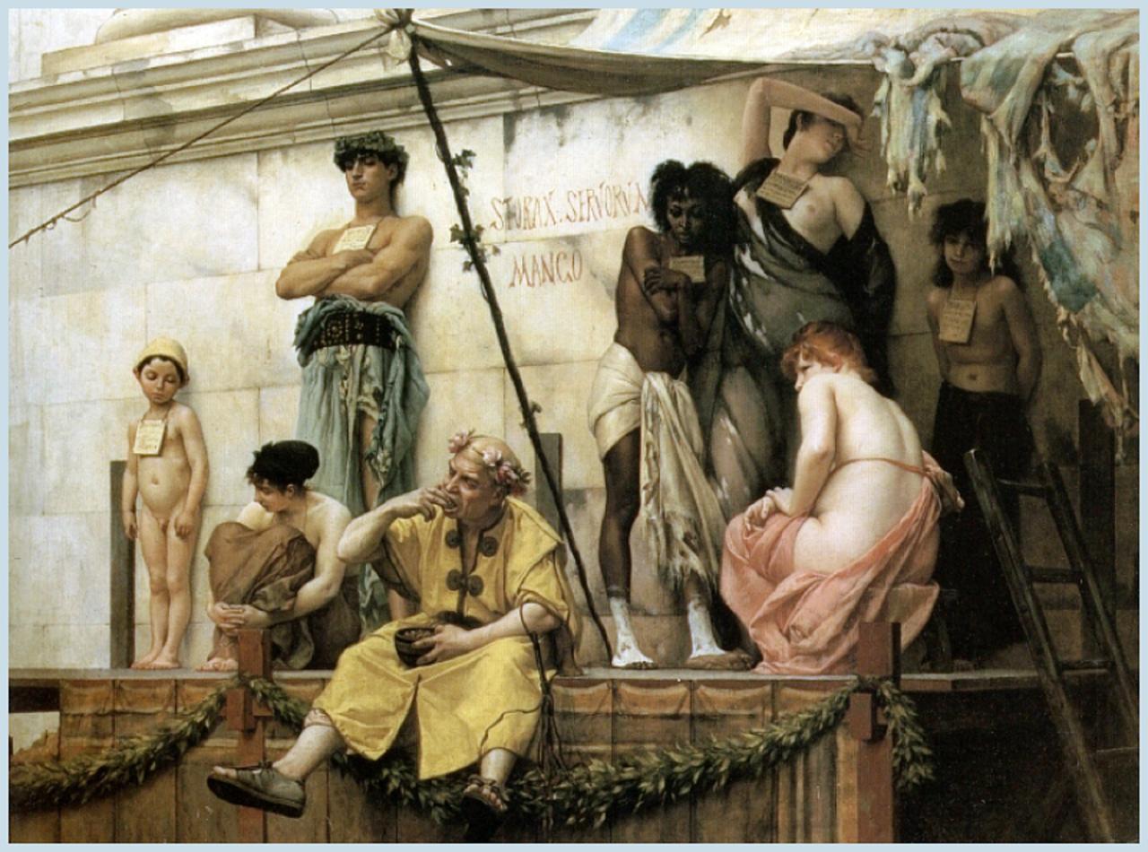 """Gustave Boulanger, """"The Slave Market"""" (1882)"""