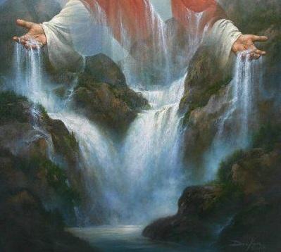 Jesus giving living waters 2