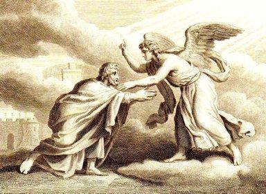 John rebuked for falling at knees of an angel -Rev